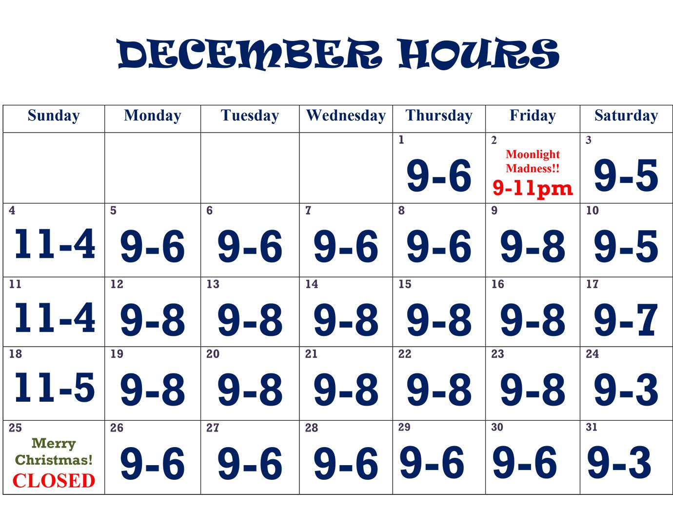 december-hours-2016